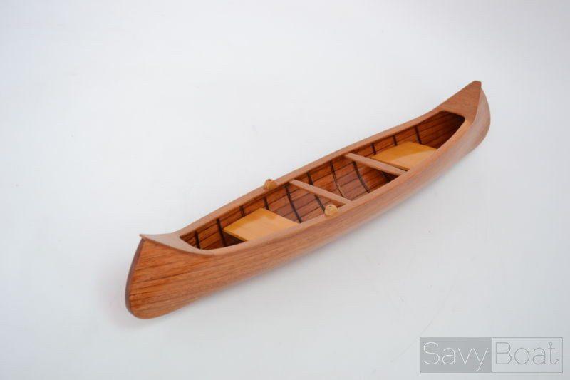 Indian Girl Canoe 24 Wooden Handmade Row Boat Model
