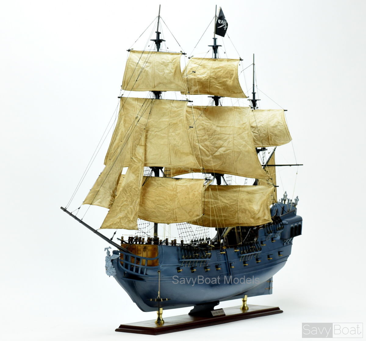 Black Pearl Pirate Ship with light