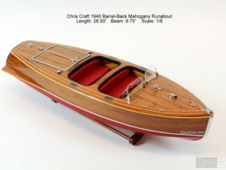 handbuild replica Chris Craft Barrel Back 1940