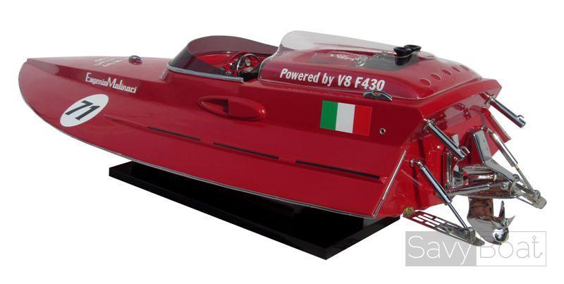 Ferrari F430 - Handcrafted Wooden Model Boat   SavyBoat