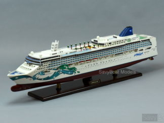 Norwegian Jade wooden ship model