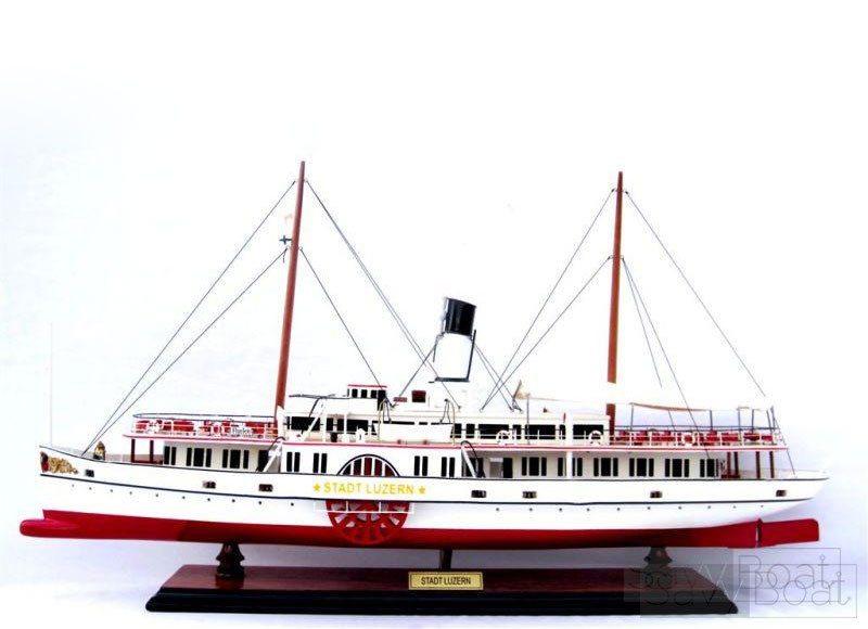 Stadt Luzern Paddle Steam Boat - Handmade Wooden Ship Model