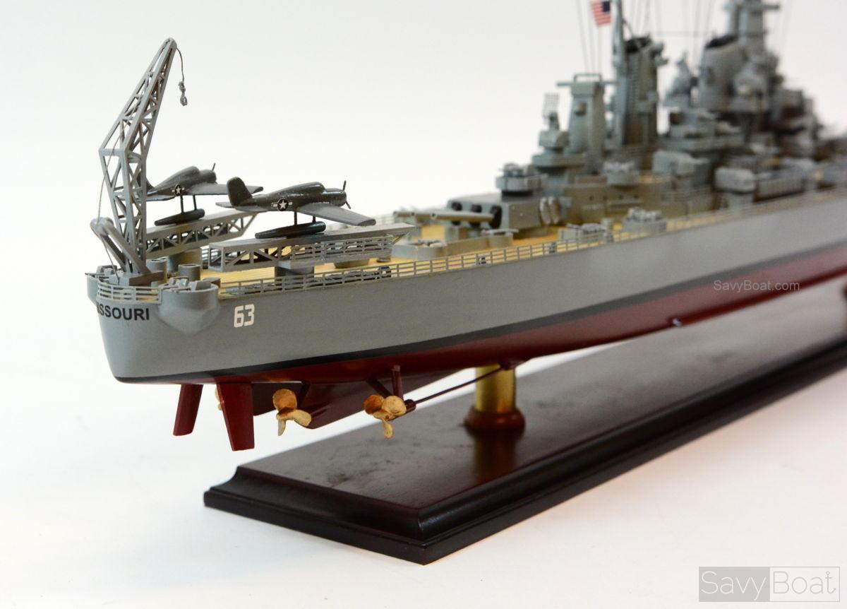 Uss Missouri Bb 63 Quot Big Mo Quot Iowa Class Battleship Model Ship