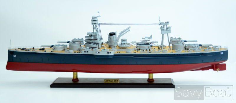 uss texas bb 35 new york class battleship 36 wooden ship model