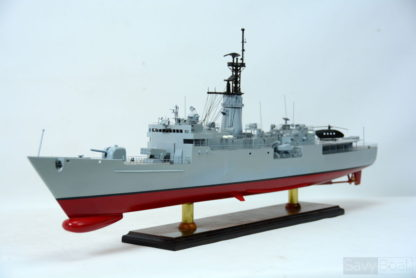 USS KNOX frigate handmade ship model