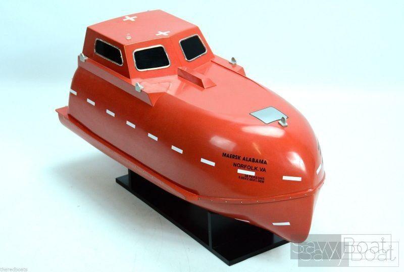 Maersk Alabama Wooden Boat - Handcrafted Model Savyboat Lifeboat