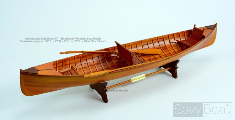 "Adirondack Guideboat 31"" Handmade Rowboat Model"