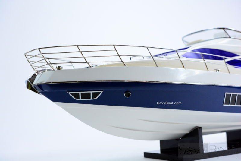 """Azimut 64 Flybridge Yacht 34"""" - Handcrafted Wooden Boat Model"""