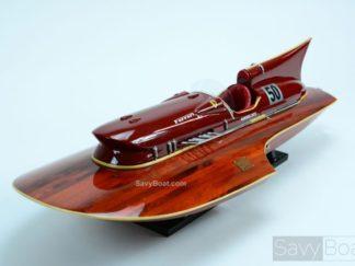 Ferrari Hydroplane wooden boat model