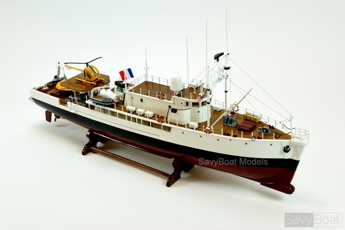 RV Calypso Ship Model handcrafted, Jacques-Yves Cousteau