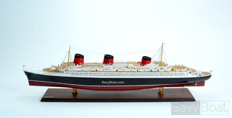 "TSS Normandie Ocean Liner Ship Model 39"" Handcrafted Ship Model"