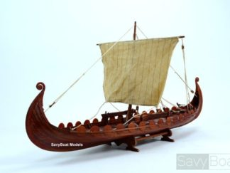Oseberg Viking wooden boat model