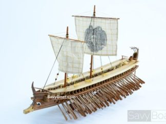how to make a wooden model roman war ship