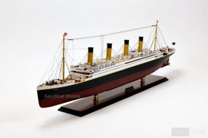 RMS Titanic handmade wooden model ship