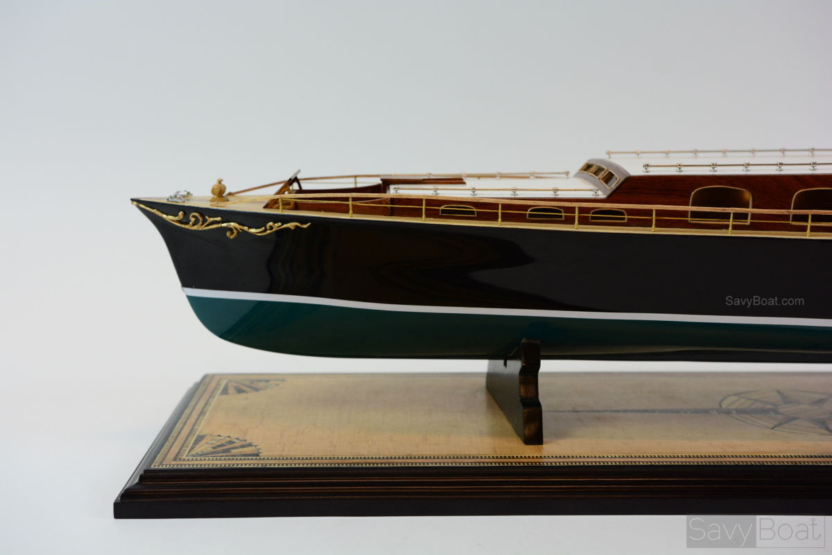 Aphrodite Commuter Yacht - Museum Quailty Handmade Wooden Model