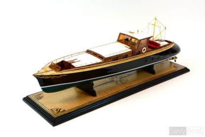 Aphrodite Commuter Yacht wooden boat model