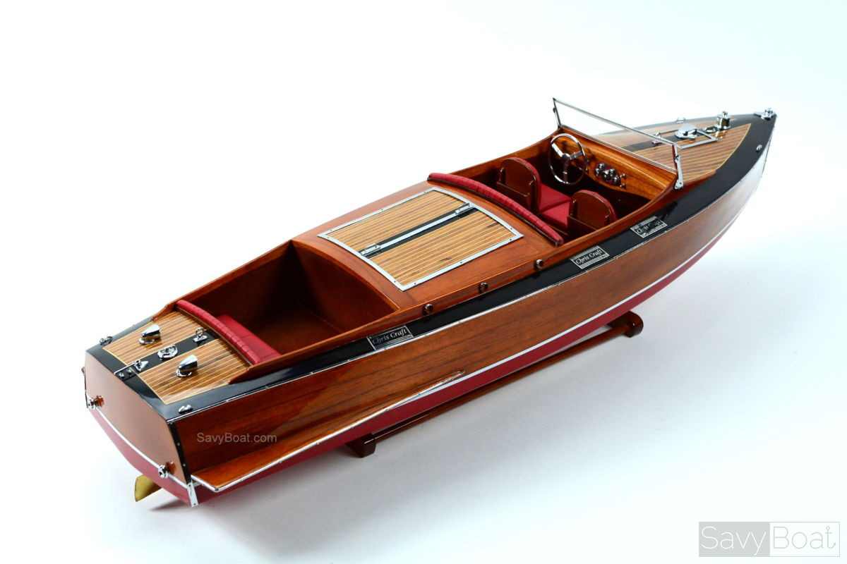 1930 Chris Craft Runabout Mahogany Handcrafted Wooden