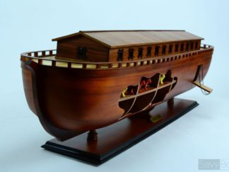 Noah's Ark handcrafted wooden ship model
