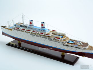 Handcrafted SS Constitution Hawaii ocean liner wooden cruise ship model