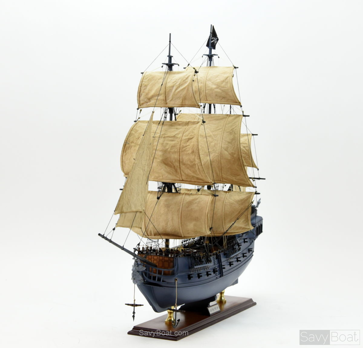 Black Pearl Pirate Ship Handcrafted Wooden Model Ship