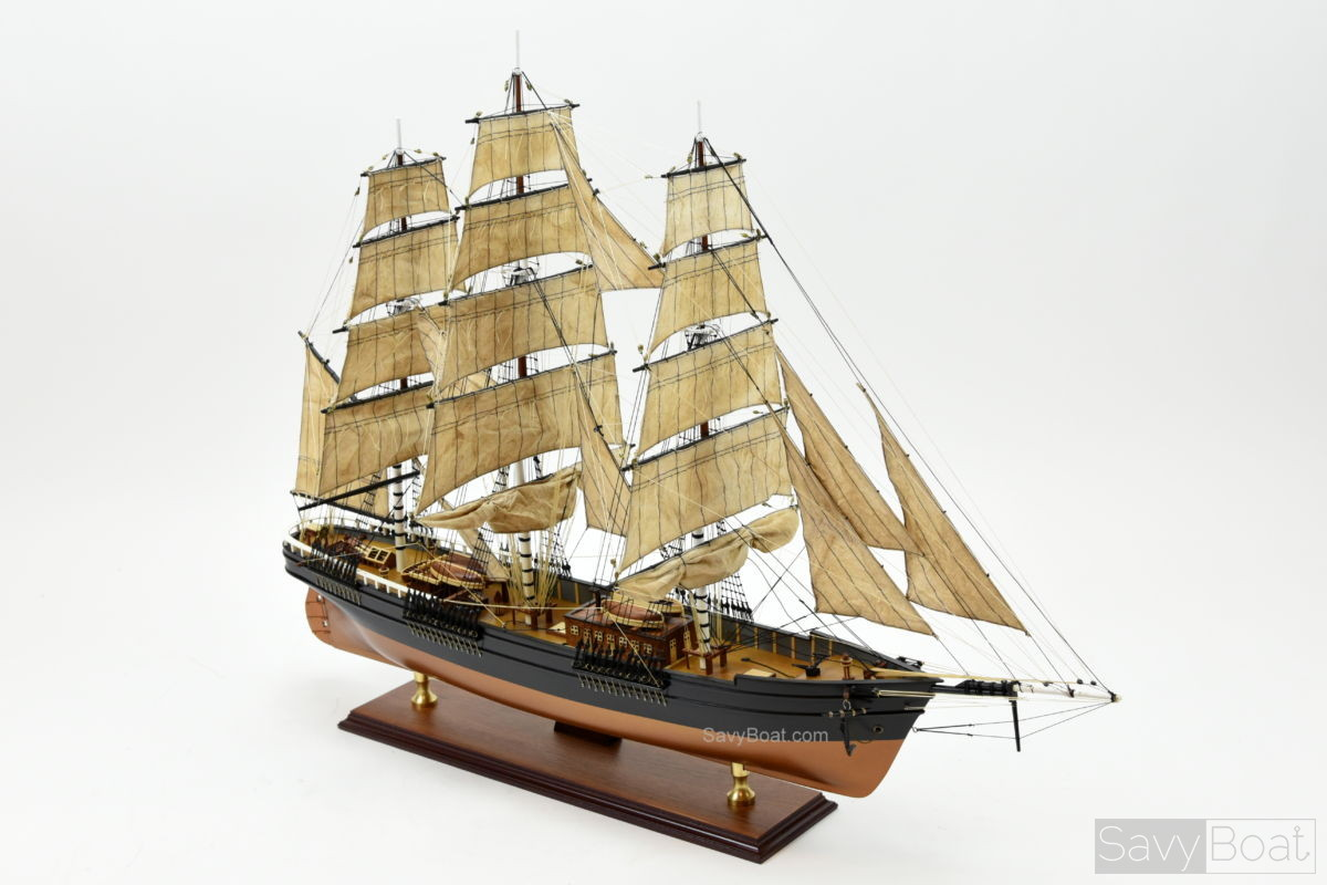 Flying Cloud Handcrafted Wooden Model Boat Savyboat