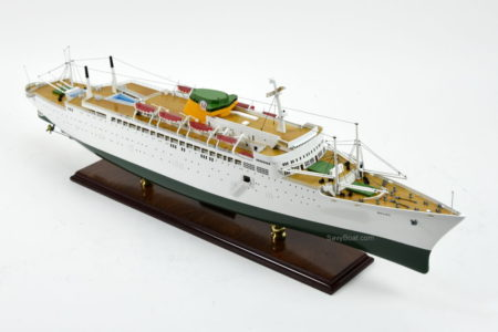SS Brasil ocean liner model ship