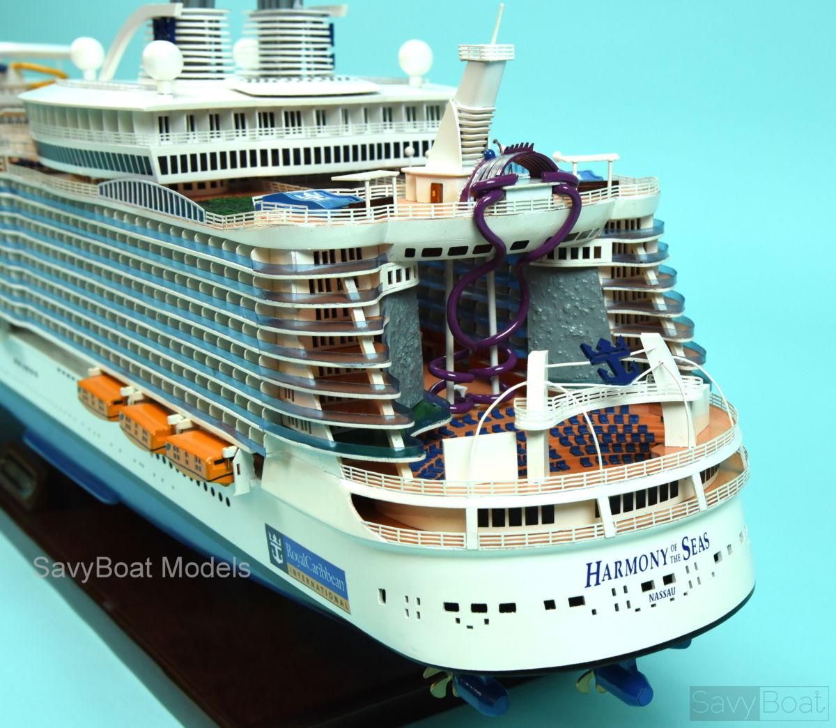Ms Harmony Of The Seas Handmade Cruise Ship Model Savyboat