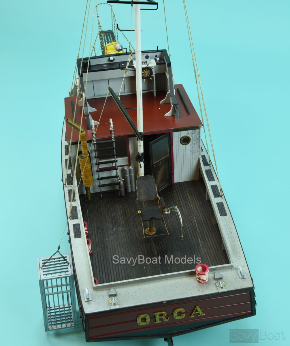 ORCA fishing boat from Jaws movie- Handcrafted Wooden Boat Model