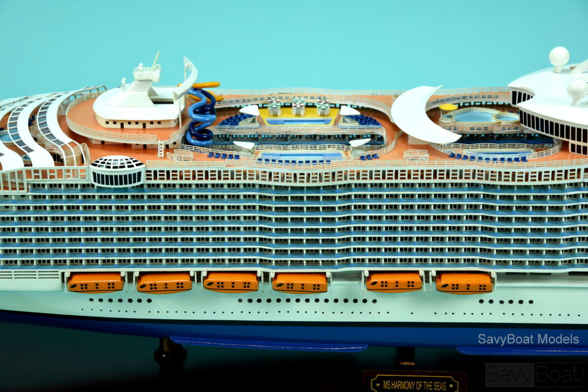 MS Harmony Of The Seas Handmade Wooden Cruise Ship Model