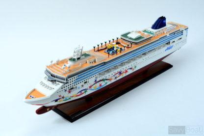 Norwegian star wooden model