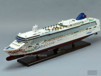 Norwegian Gem wooden model