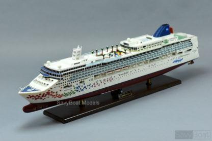 Norwegian Gem wooden model