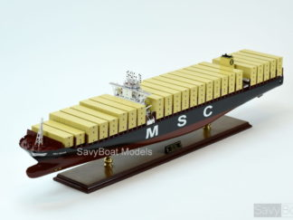MSC Oscar container ship woodenmodel