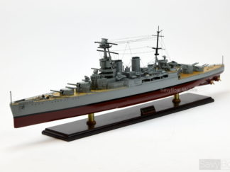 HMS Hood battle cruiser model ship