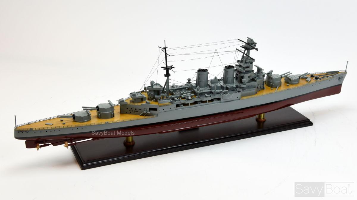 HMS Hood battle cruiser Royal Navy - Wooden Model Ship | SavyBoat