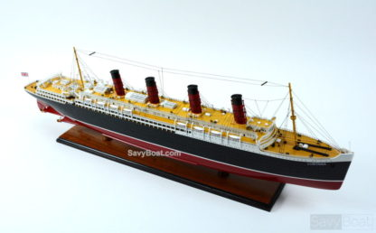 RMS Lusitania handmade ship model