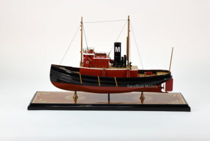Edmon J. Moran handmade tugboat model