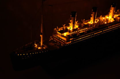 RMS Olympic ocean liner with Light