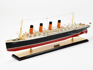RMS Mauretania handcrafted ship model