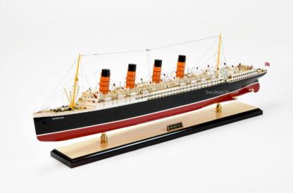 RMS Mauretania handcrafted ship model