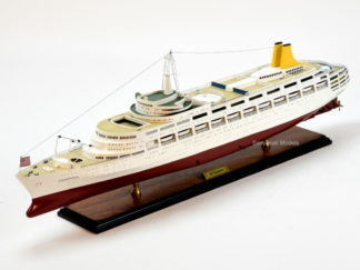 SS Canberra handcrafted model ship